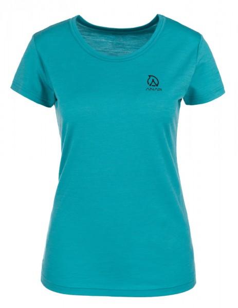 Anar Damen Merinowolle-T-Shirt Galda türkis