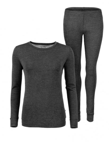 Anar Damen Merinowolle-Unterbekleidung Galda grau