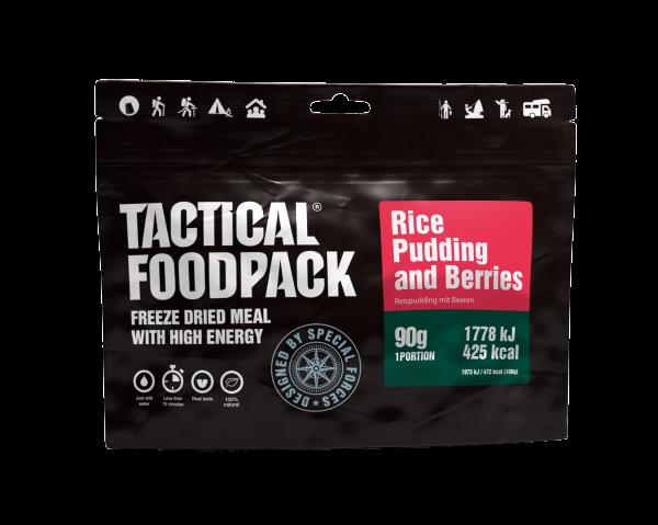 Tactical Foodpack Outdoor Nahrung Reispudding mit Beeren