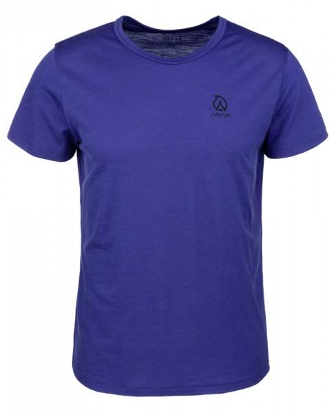 Anar Herren Merinowolle-T-Shirt Muorra spectrum blue