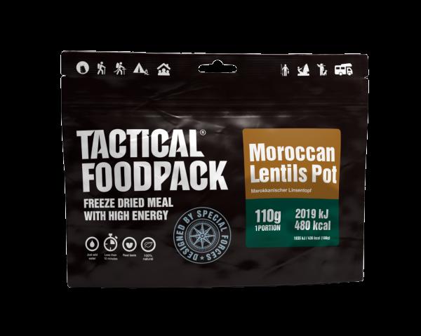 Tactical Foodpack Outdoor Nahrung Marokkanischer Linsentopf