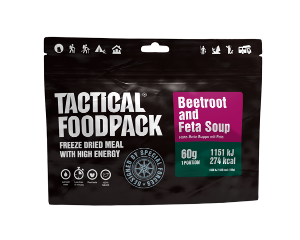 Tactical Foodpack Outdoor Nahrung Rote-Beete-Suppe mit Feta