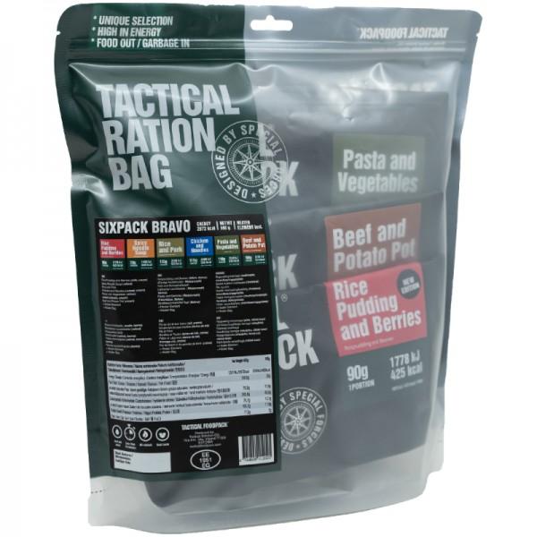 Tactical Foodpack Outdoor Nahrung Sixpack Bravo