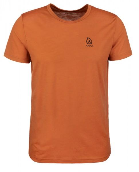 Anar Herren Merinowolle-T-Shirt Muorra orange