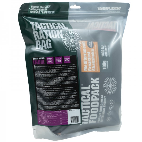 Tactical Foodpack Outdoor Nahrung 3-Gerichte-Ration India