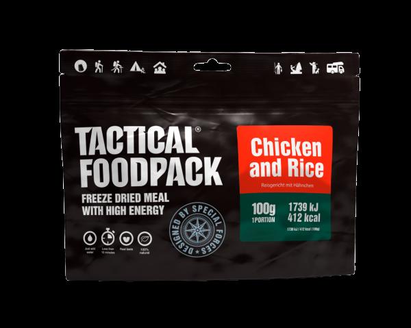 Tactical Foodpack Outdoor Nahrung Hühnchen und Reis