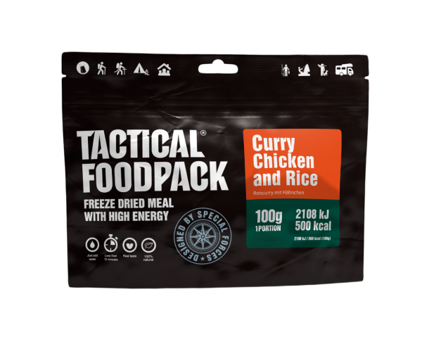 Tactical Foodpack Outdoor Nahrung Curry-Reis mit Hühnchen