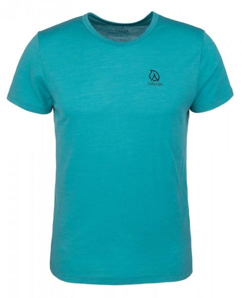 Anar Herren Merinowolle-T-Shirt Muorra türkis