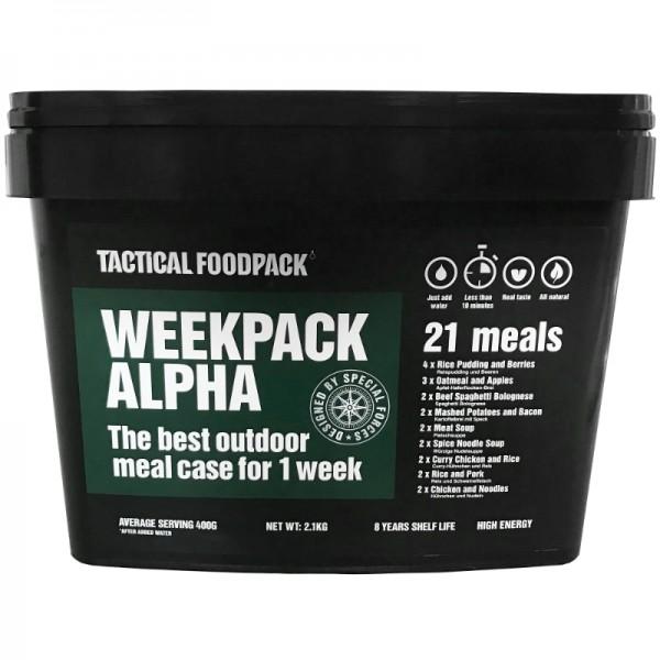 Tactical Foodpack Outdoor Nahrung Week Pack Alpha
