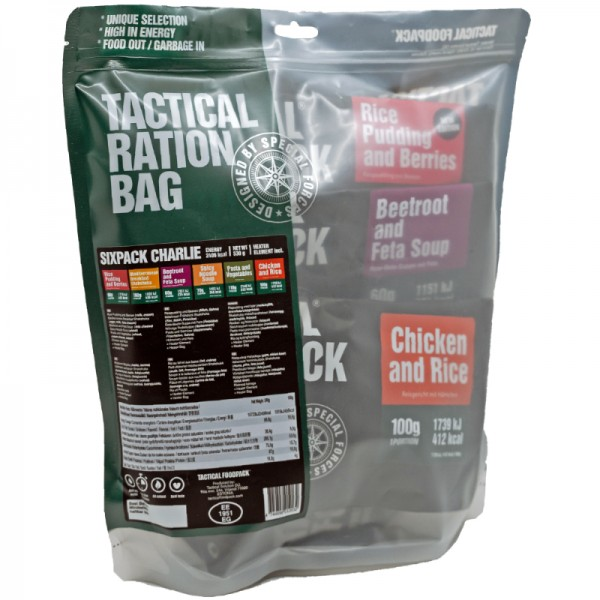 Tactical Foodpack Outdoor Nahrung Sixpack Charlie